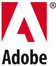 Logo van Adobe Systems Incorporate.