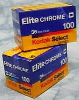 Elite Chrome filmrolletjes van Kodak.