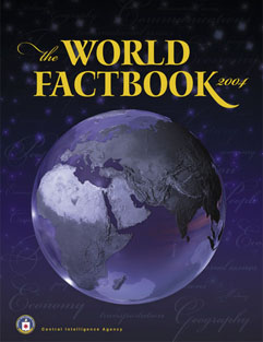 Cover van de World Factbook 2004.