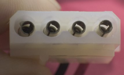 Female molex connector.